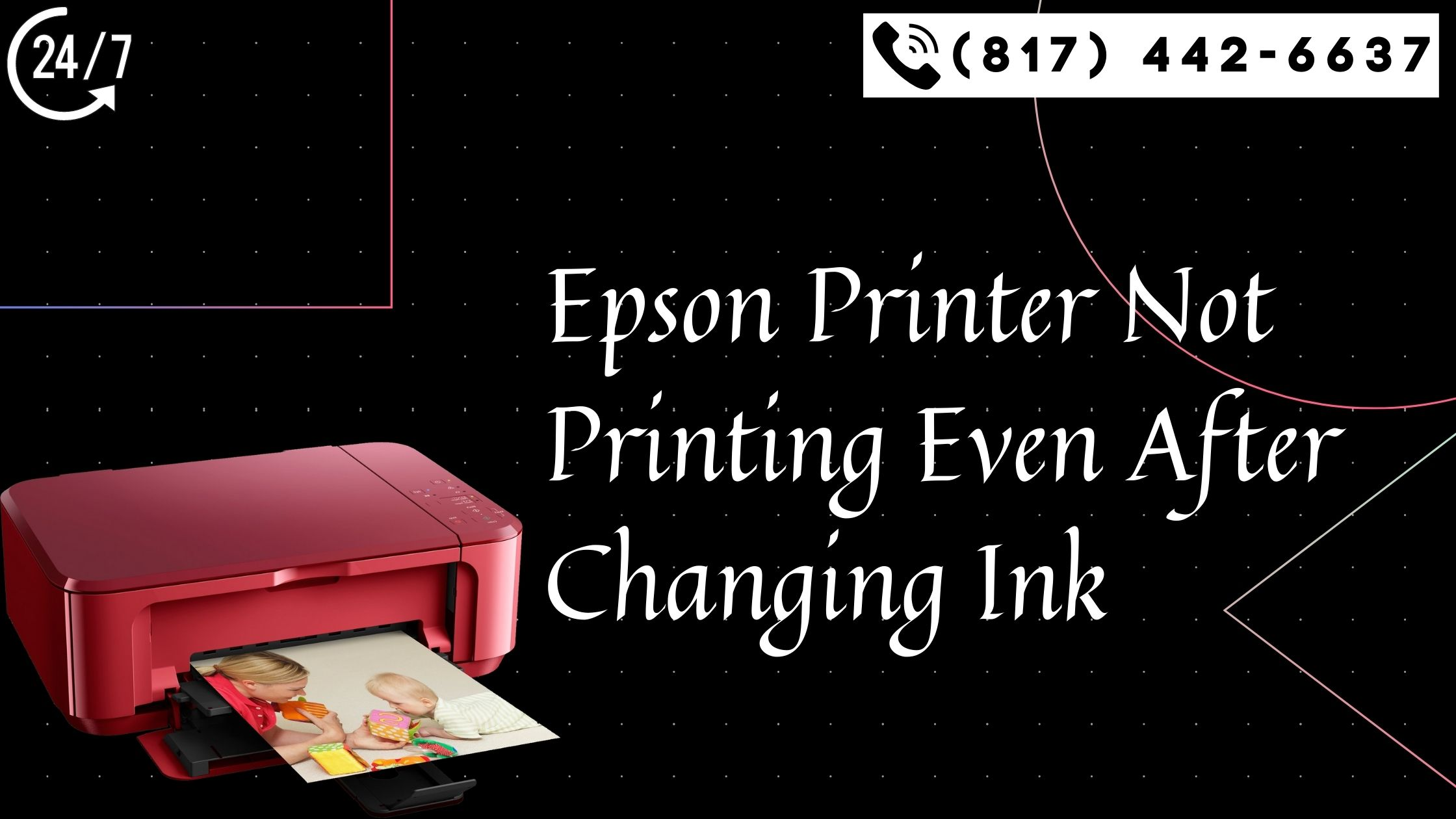 Epson printer not printing after changing ink