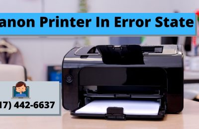 How to resolve the Canon printer in error state error