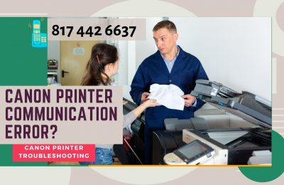 How to resolve Canon printer communication error?