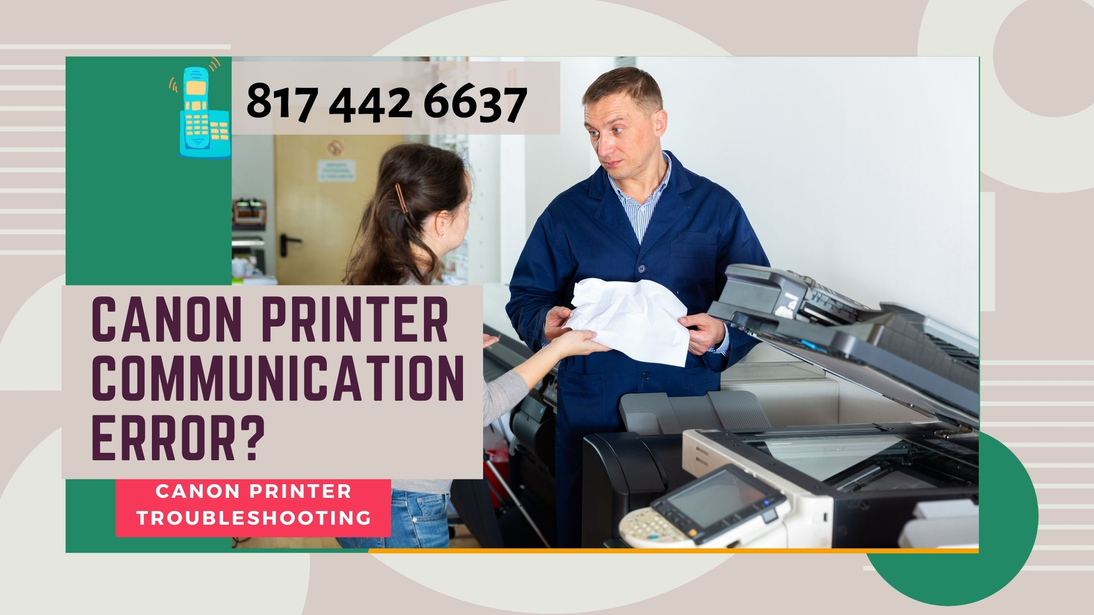 Canon printer communication error_
